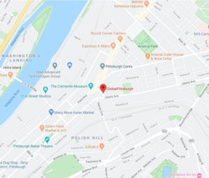Google Map to Global Pittsburgh
